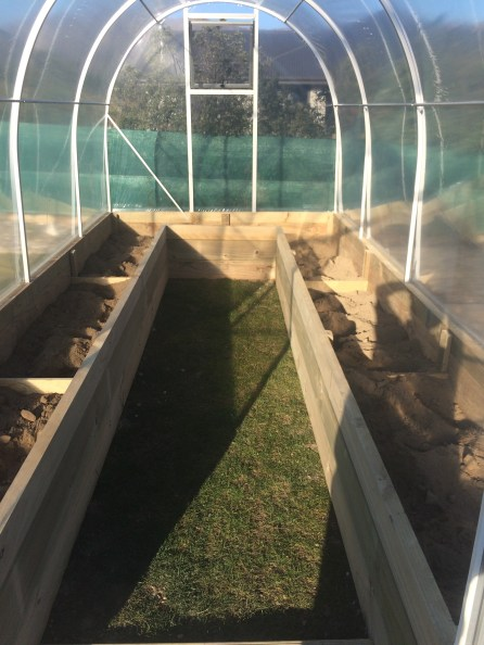 Morrifield Dynamic Growing Tunnel with raised garden beds