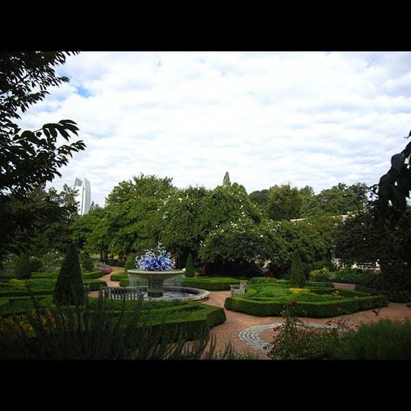 The Parterre Garden at the Atlanta Botanical Garden in Atlanta, Georgia, designed by Tunnell and Tunnell Landscape Architecture.