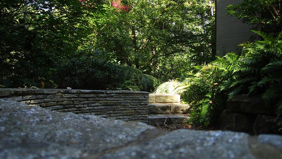 stone seat wall