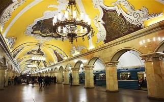 Komsomolskaya metro station, Moscow (Russia)