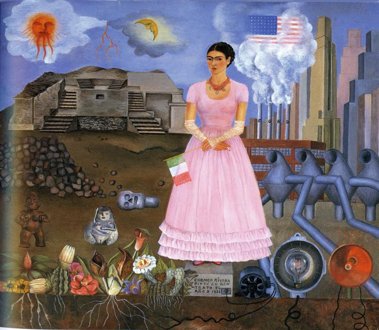 Self-portrait on the Borderline Between Mexico and the United States // Frida Kahlo, 1932