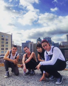 """I love this photo because I care so much for the people in it. We had all climbed a fire escape staircase and two sets of ladders to reach the tallest rooftop on the building. They are all around 16-17, except for the second boy on the left who is in his mid twenties. He laughed about being the """"hot chaperone."""" I also love the view of the buildings, especially the Eastern Building, in downtown la. Taken with iPhone."""