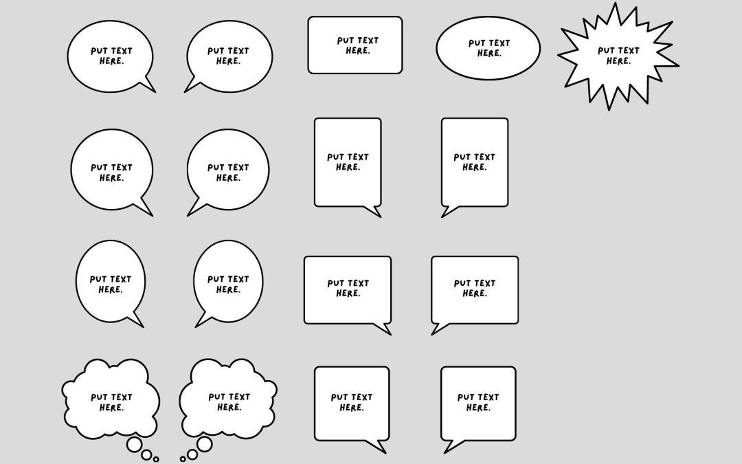 Cómo se usan los globos de texto