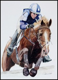 Horse & Jockey by Richard Bennett