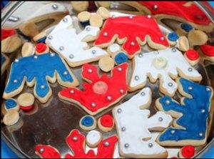 Queen's Diamond Jubilee decorated biscuits