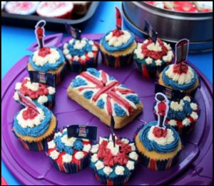 Queen's Diamond Jubilee decorated cakes