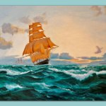 The Clipper Oil Painting on Canvas by Frances Dewis