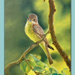 Yellow Bird Painting by Frances Dewis