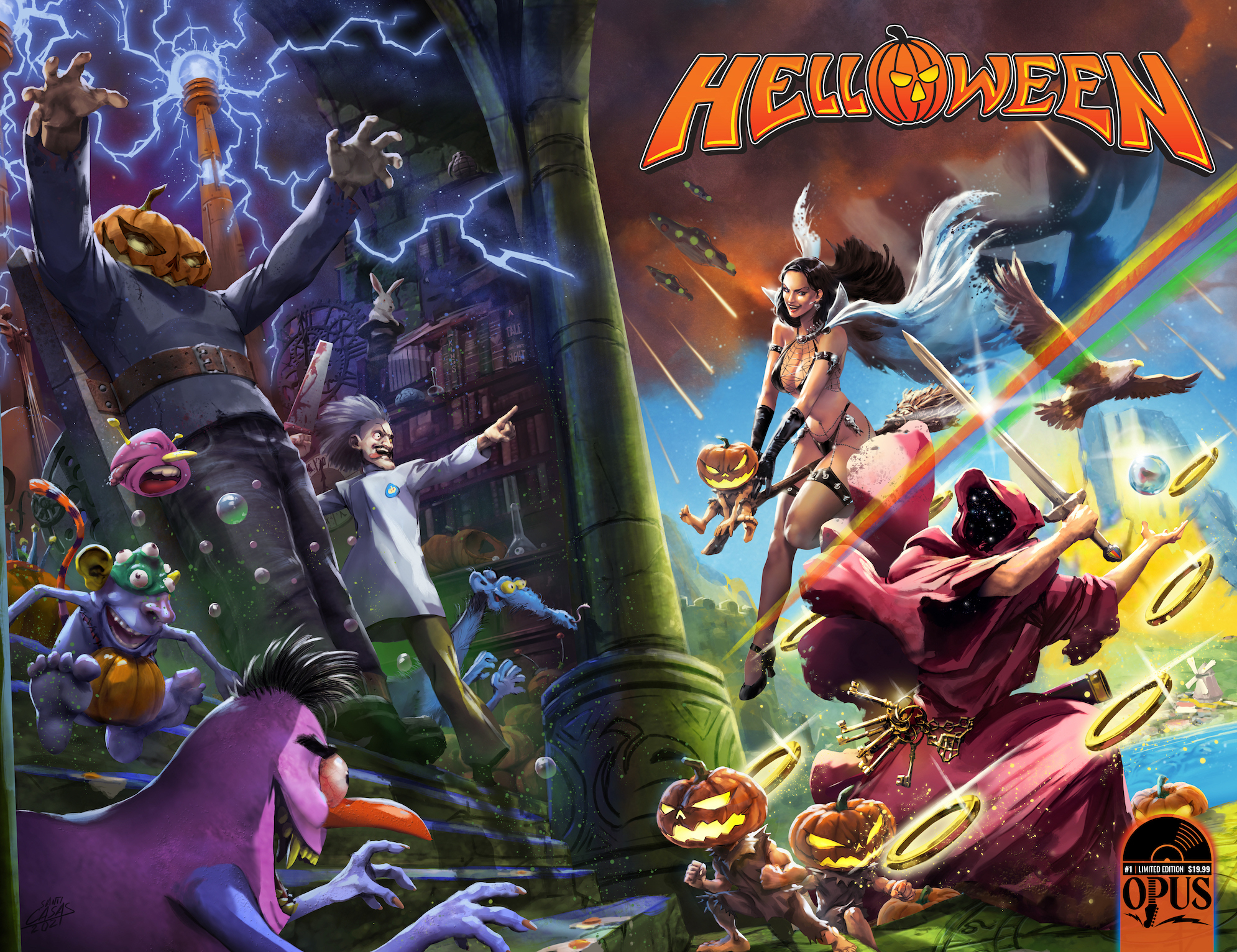 Helloween teams up with Incendium for comic book, and action figures