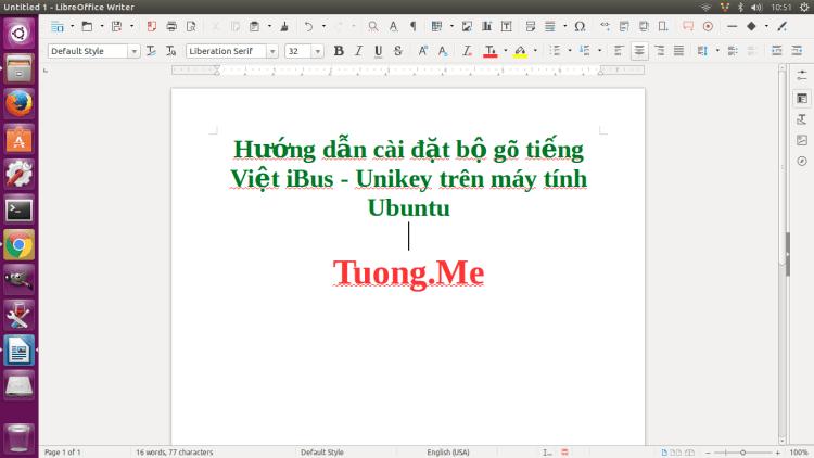 Hướng dẫn cài đặt bộ gõ tiếng Việt cho Ubuntu - ibus - unikey