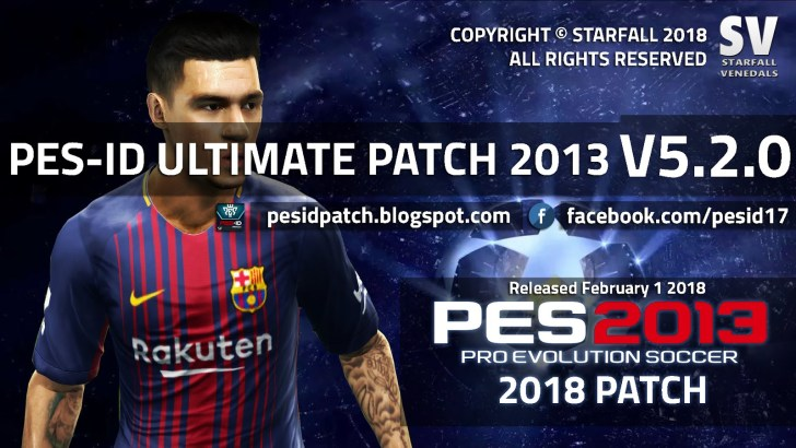 [Fshare] PES-ID Ultimate Patch 2013 v5.2 – Patch PES 2013 mới nhất 2018