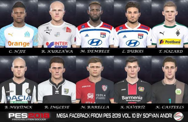 PES 2018 Mega Facepack From PES 2019 Vol. 10