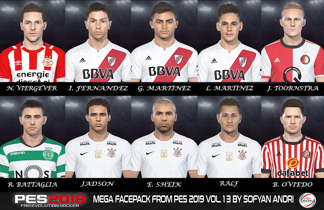 PES 2018 Mega Facepack From PES 2019 Vol. 13