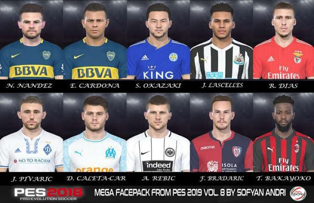 PES 2018 Mega Facepack From PES 2019 Vol. 8