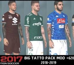 Tattoo Pack cho PES 2017 Next Season Patch 2019