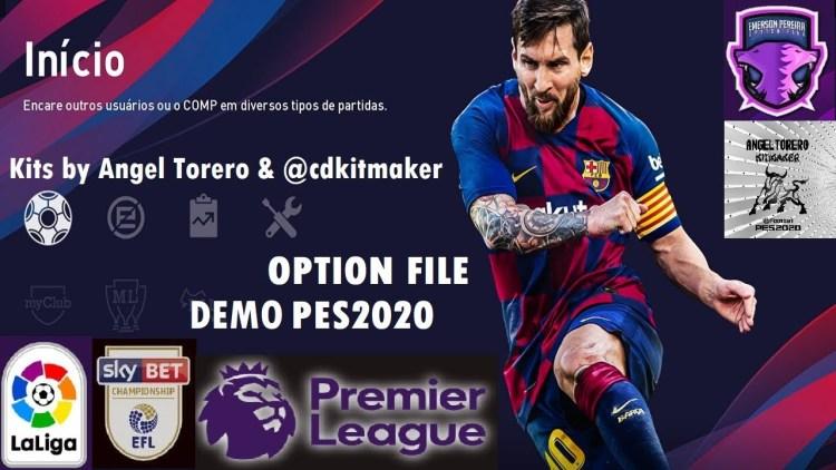 Option File PES 2020 Demo cho PS4 cập nhật mùa giải 2019/2020 mới nhất