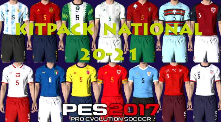 Download PES 2017 National Kitpack 2021 V1 by EsLaM