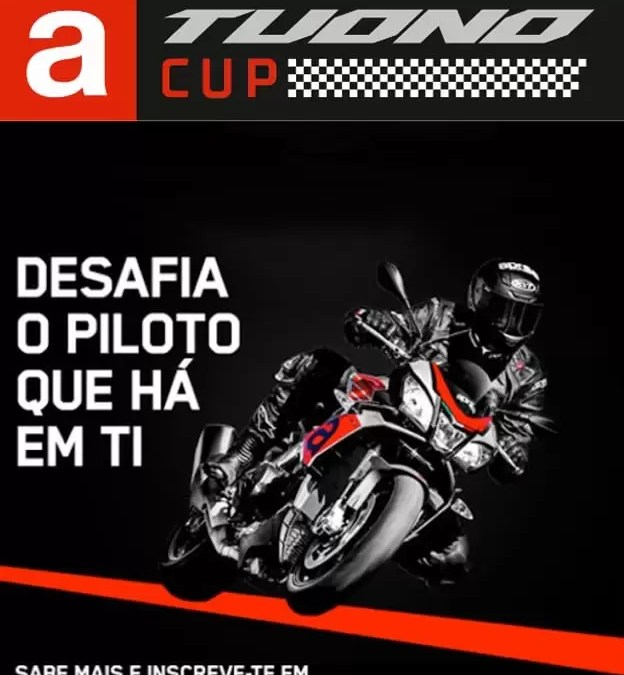 A Tuono Cup na revista da Piaggio