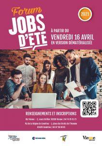 Flyer du progrmme Job d'été 2021 pour illustrer l'article sur les Jobs d'été du site de la mairie de tupin et semons www.tupinetsemons.fr