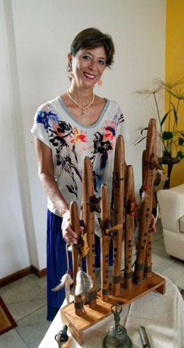 Las siete Flautas de Amor afinadas para cada uno de los siete chakras energéticos
