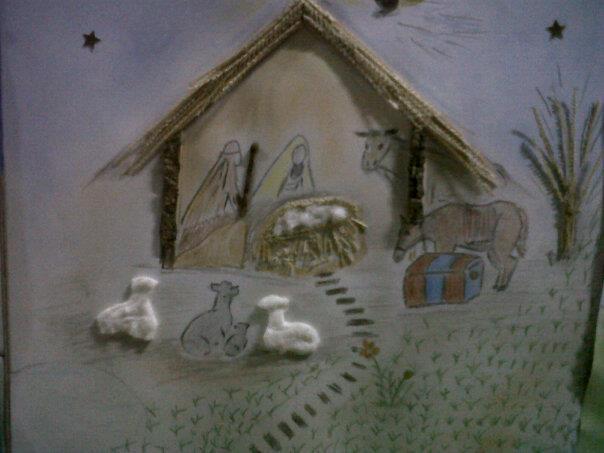 Los Nacimientos pintados por niños siempre son maravillosos