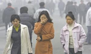 Polución intensa en China. Foto AP