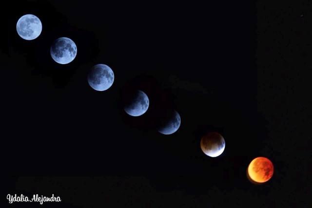 El eclipse visto de San Juan de Puerto Rico, foto cortesía de Ydalia Alejandra