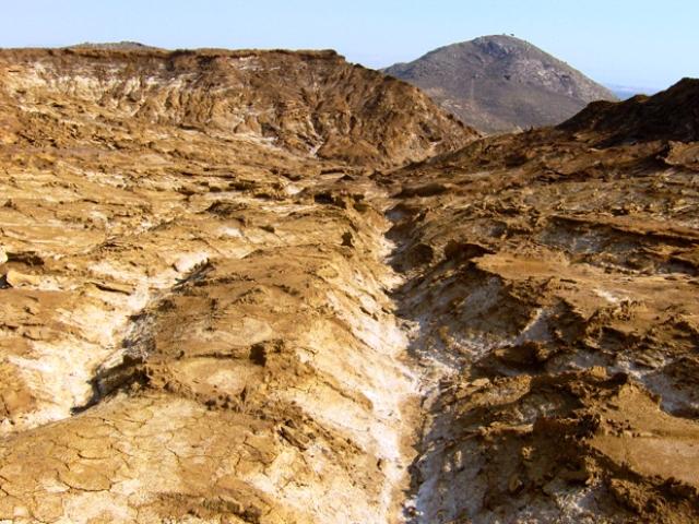 Tierra erosionada, un paisaje desolador