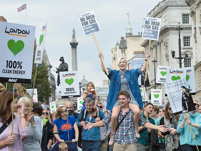 Londres marchó contra el cambio climático