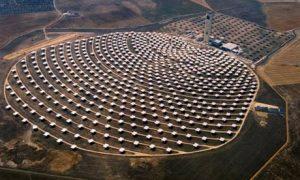 Granja solar en el Sahara