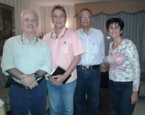 Manolo Valero, Eduardo Perez Guardia, Claudio Mendoza junto a Marisela Valero. Foto Nidia Hernandez