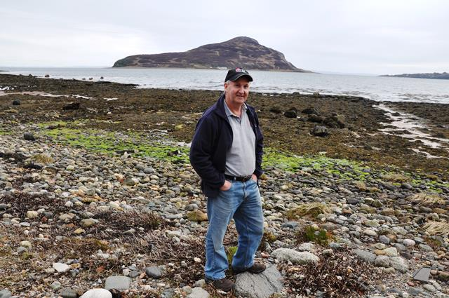 Howard Wood en la isla de Arran