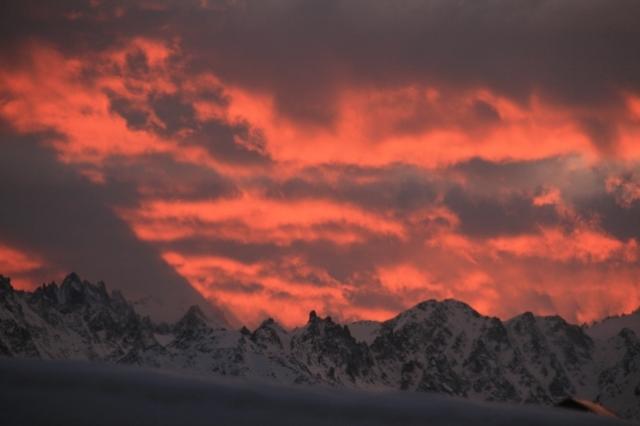 Alpes suizos,atardecer