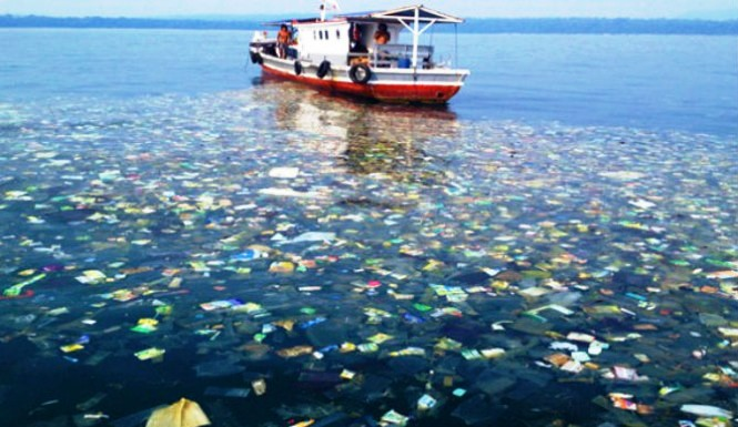 Plástico inunda el océao. Foto Ocean Cleanup