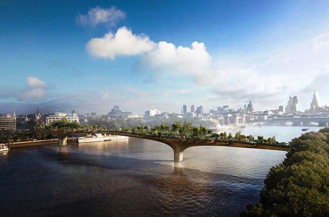 El Garden Bridge sobre el Támesis que algunos califican de execrable