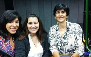 Grecia, Marijul y Marisela en el estudio. Foto Fernando Camacho