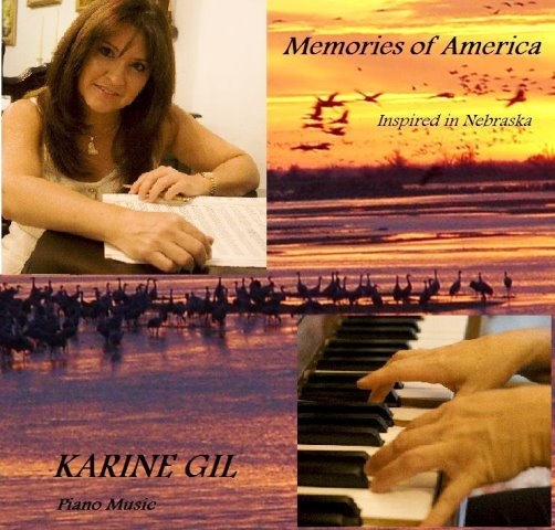 Karine y uno de sus albumes