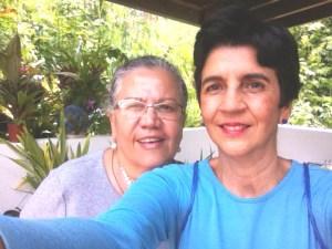 Yadira Rodriguez juento a Marisela Valero en un selfie