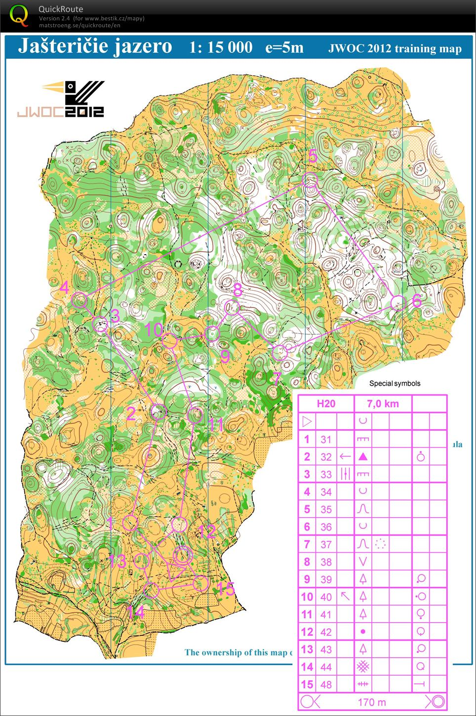 Oster TL Slowakien   Jogging at Silica plateau     Orienteering Map     View map without route