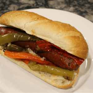 Italian Sausage with Roasted Sweet Peppers