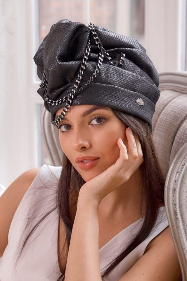 Turban hat hijab with chains
