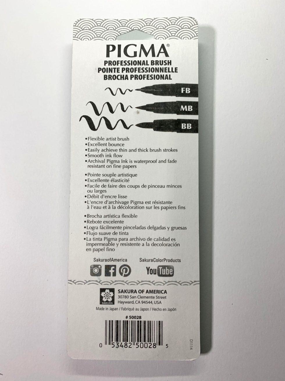 Sakura Pigma Brushes 5