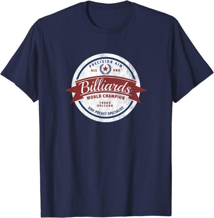 "Retro Billiards World Champion ""Side Pocket Specialist"" T-Shirt"