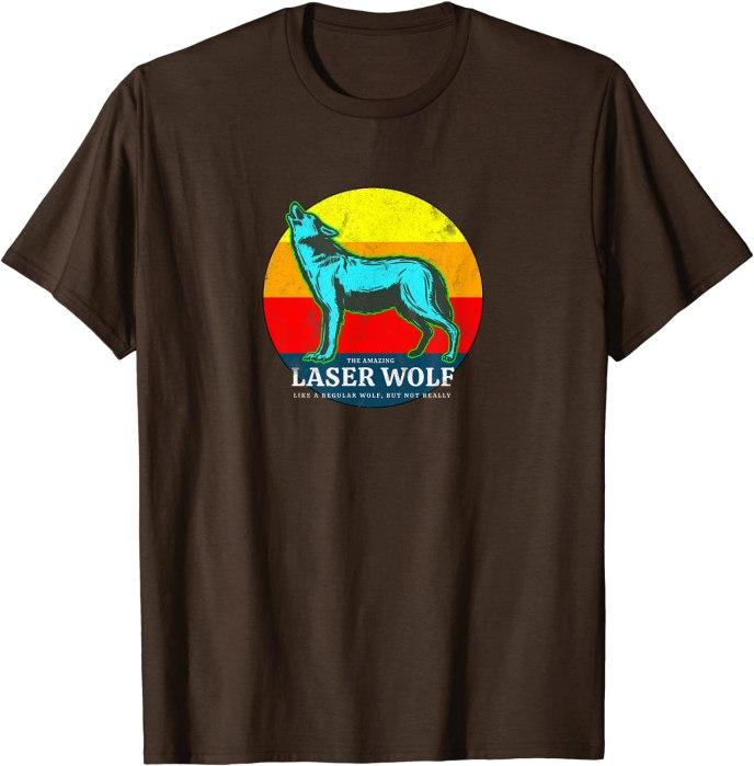 Retro Laser-Wolf T-Shirt
