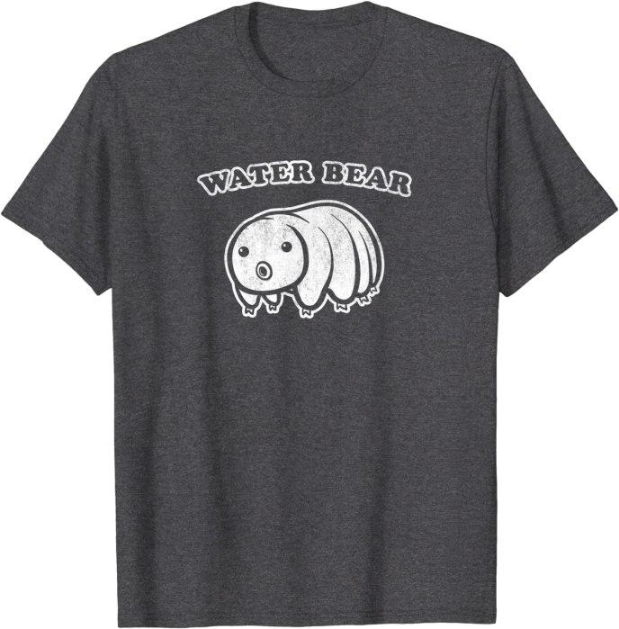 Retro Cute Water Bear Distressed T-Shirt