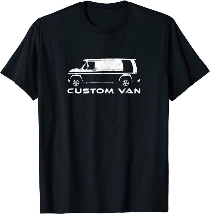 Custom Van T-Shirt Vintage Blackout Van Tee