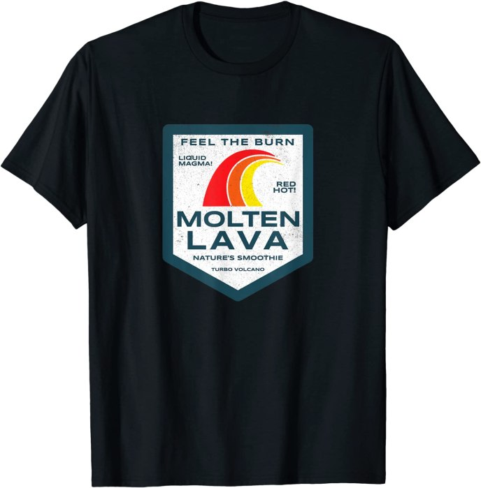 """Retro Molten Lava """"Nature's Smoothy"""" Funny Geology T-Shirt"""