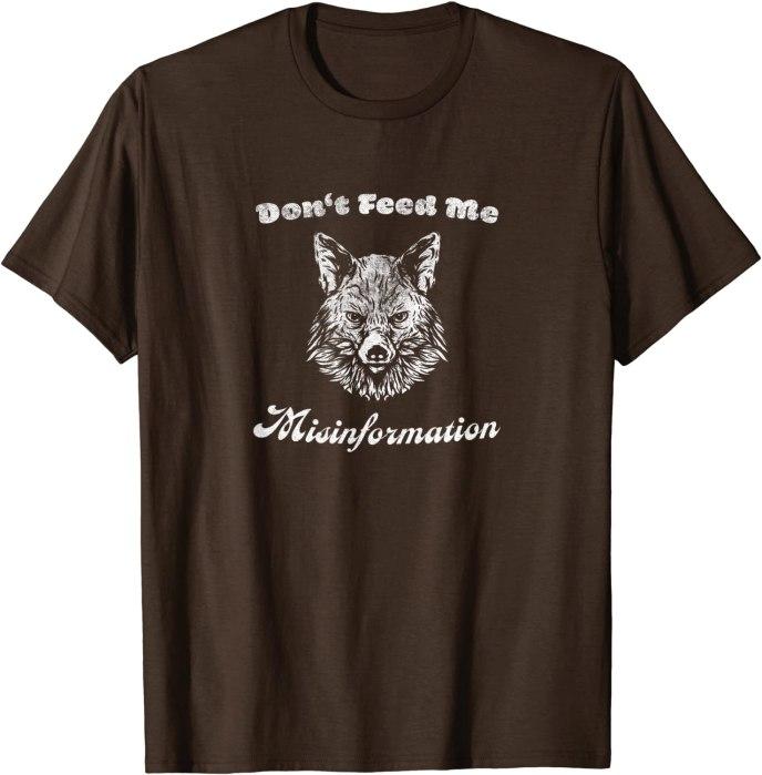 "Retro ""Don't Feed Me Misinformation"" Turbo Volcano T-Shirt"