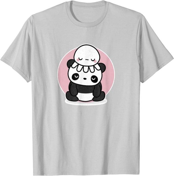 Retro Kawaii Panda with Cute Octopus by Turbo Volcano T-Shirt