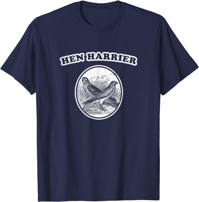 Retro Hen Harrier: Vintage Bird of Prey T-Shirt